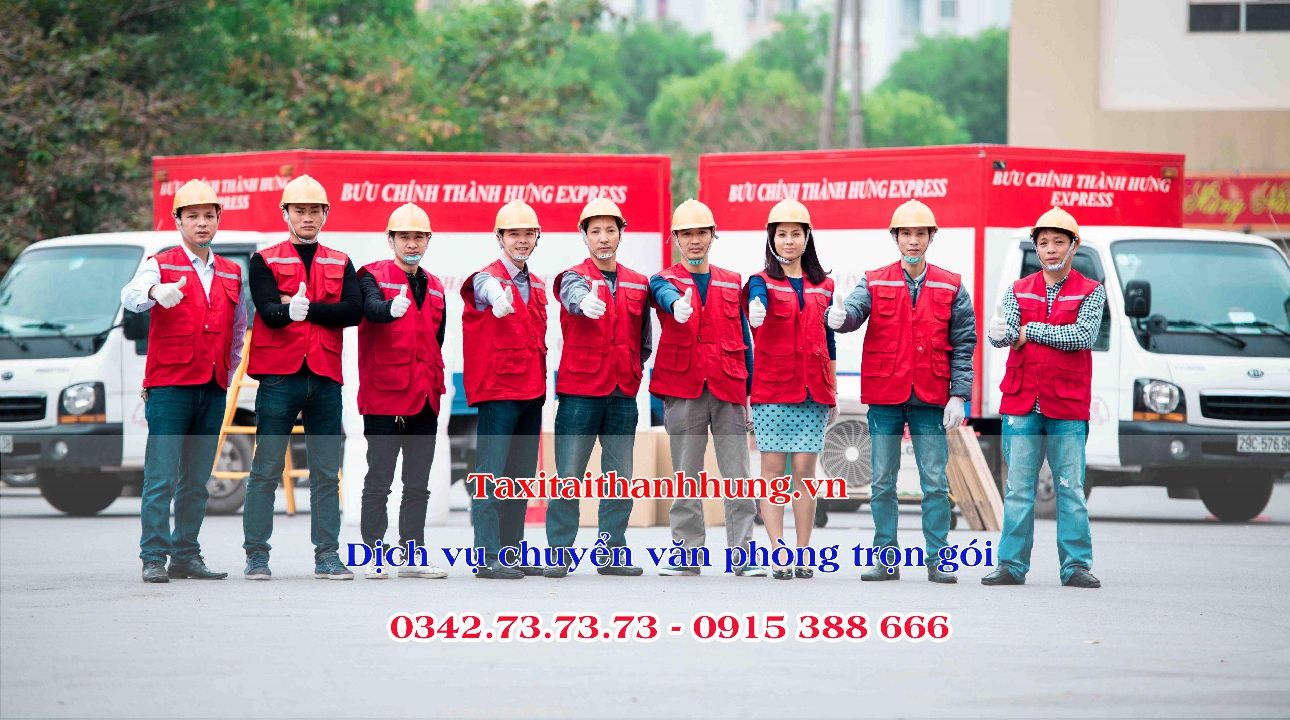 Đội ngũ nhân viên chuyển văn phòng Hà Nội