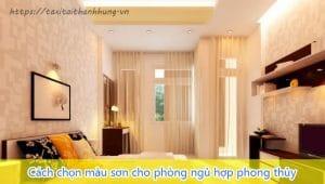 Cách chọn màu sơn cho phòng ngủ theo phong thủy