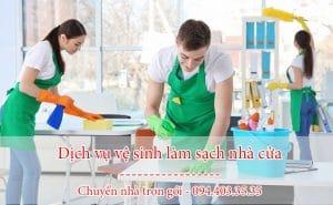 dịch vụ vệ sinh làm sạch nhà